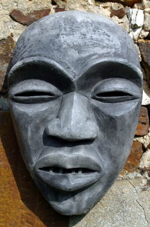 Masque, poterie sculpture art fantastique